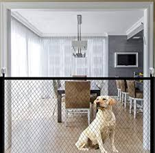 Amazon Com Magic Gate For Dogs Portable Folding Mesh Pet Gate Magic Gate Safety Gates Fence Isolated Gauze Indoor And Outdoor Safe Guard Install Anywhere 70 9 Inches X28 3 Inches Baby