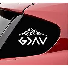 Amazon Com Slap Art God Is Greater Than The Highs And The Lows Vinyl Decal Sticker White Automotive