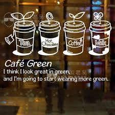 Milk Tea Coffee Shop Cafes Ice Cream Bread Cake Kitchen Wall Art Removable Sticker Decal Diy Cafe Ice Cream Bubble Tea Shop Milk Tea