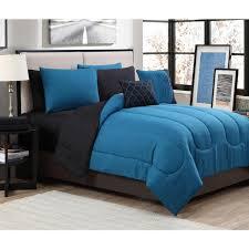 piece solid teal black queen bed