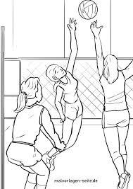 Kleurplaat Volleybal Sport Gratis Kleurplaten