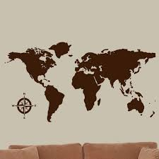 World Map Global Decal Vinyl Wall Art Countries Continents Wall Decal Kids Room Sticker Decor Walmart Com Walmart Com