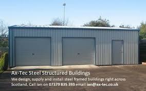 steel framed car double garage work