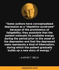 aaron t beck quote some authors have conceptualized depression