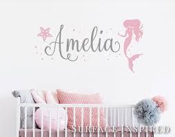 Name Wall Stickers Nursery Kids Wall Stickers Mermaid Etsy In 2020 Name Wall Stickers Name Wall Decals Nursery Wall Decals