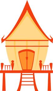 Thai traditional house | Public domain vectors