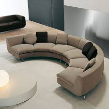 mid century modern curved sectional