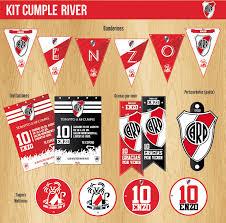 River Decoracion Cumple Futbol Kit Fiesta Invitaciones