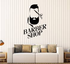 Vinyl Wall Decal Barber Shop Man Hairdresser Hair Salon Stylist Stickers Unique Gift 463ig Barber Shop Barber Hair Salon Design