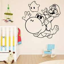 Modern Super Mario Wall Sticker Vinyl Waterproof Wall Decal For Bedroom Decor Kids Room Wall Murals Gameroom Art Decal Buy At The Price Of 3 73 In Aliexpress Com Imall Com