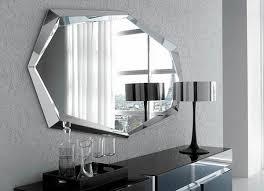 modern wall mirror living room