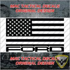 Mac Tactical Decals Ford Raptor American Flag Car Decal