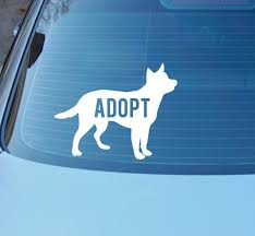 Adopt Decal Rescue Dog Decal Shelter Dog Save A Life Etsy