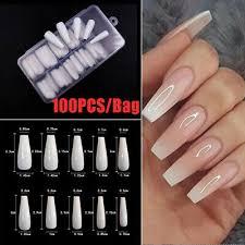 100pcs box long ballerina false nail