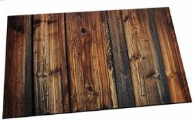 Rustic Wood Panel Brown Plank Fence Bath Mat Wild West Living