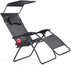 black folding zero gravity lounge chair