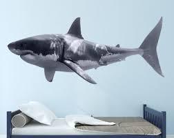 Shark Wall Decal Etsy