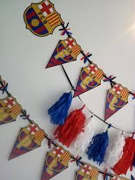 Banderin Feliz Cumpleanos Barcelona Barca Futbol Guirnald