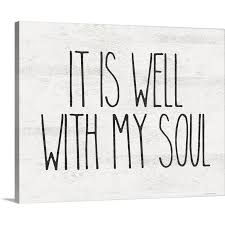 well with my soul canvas wall art