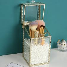m makeup brush holder pearls organizer