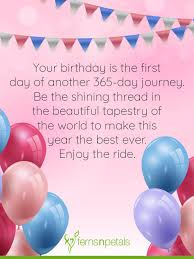 happy birthday wishes quotes messages in ferns n petals