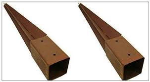 Garden Mile 2x Heavy Duty Fence Post Holder 750mm X 75mm Spike Support Rust Resistant Metal Stakes 3 2 Amazon Co Uk Garden Outdoors