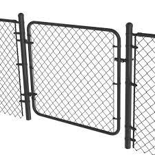 2 3 8 Black Chain Link Fence Walk Gate Kit At Menards