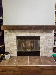 build your own rustic fireplace mantel