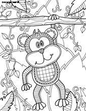 30 40 Different Animal Coloring Pages Very Cute Monkey