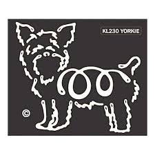 K Line Yorkshire Terrier Yorkie Dog Car Window Decal Tattoo Doggy Style Gifts