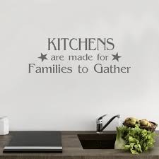 Kitchen Wall Art Family Kitchen Quote Kitchen Wall Decal Etsy