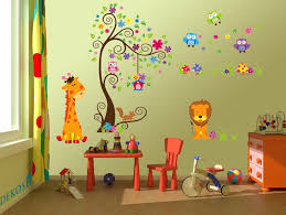 Colorful Jungle Theme Peel Stick Wall Decal For Kids Room Wall Decor Dekosh