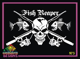 Fish Reaper Vinyl Decal