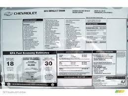 2012 Chevrolet Impala Lt Window Sticker Photo 53534405 Gtcarlot Com