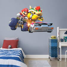 Fathead Mario Kart 8 Mario And Bowser Collision Huge Officially Licensed Nintendo Removable Wall Decal Walmart Com Walmart Com