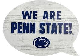 Penn State Wooden Word Bubble Souvenirs Home Window Clings
