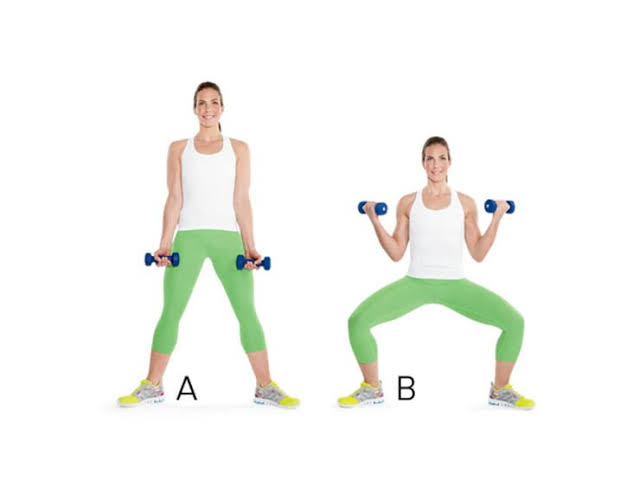 Image result for Plié Squat With Curl:""