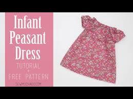 diy baby peasant dress tutorial free