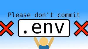 please don t commit env dev