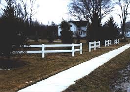 Vinyl Paddock Two Rail Fence By Elyria Fence