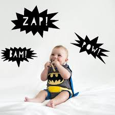 Superhero Bam Zap Pow Decal Wall Stickers Etsy