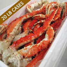20 lb CASE - Alaska Red King Crab Legs ...