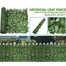 Adorable Artificial Hedge Roll Screening Ivy Leaf Garden Fence Privacy Screen 1m X 5m Shopee Malaysia