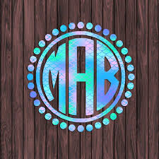 Mermaid Scales Name And Initial Vinyl Decal Personalized For Tumbler Car Laptop