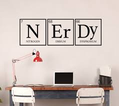 Amazon Com Wall Decor For Teens Nerdy Periodic Table Decoration Removable Vinyl Decal For Children Bedroom Playroom Or Study Area Handmade