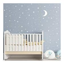 Moon And Stars Wall Decal Vinyl Sticker