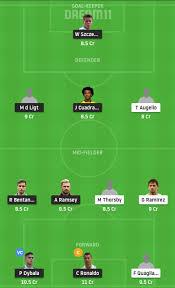 Serie A 2019-20 Matchday 36 Juventus vs Sampdoria Prediction & Dream11 Team  Today