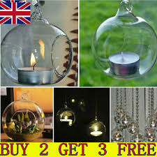 clear hanging glass bauble