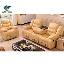 recliner genuine leather sofa set
