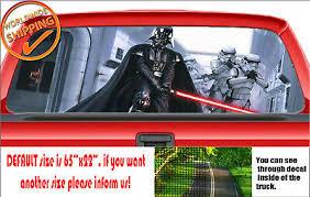W152 Star Wars Darth Vader Lightsaber Car Rear Window Perforated Sticker Decal Ebay